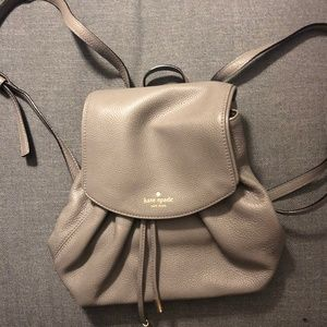 kate spade leather drawstring backpack